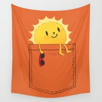 cup Wall Tapestries featuring Pocketful of sunshine by Picomodi