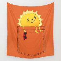 budi Wall Tapestries featuring Pocketful of sunshine by Picomodi
