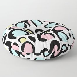 80's leopard skin pattern Floor Pillow