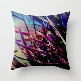 Crystallize-photo montage Throw Pillow