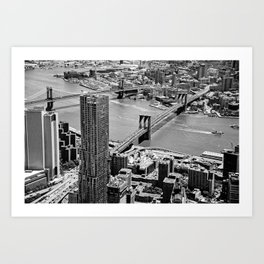 Brooklyn Bridge View - New York City Art Print