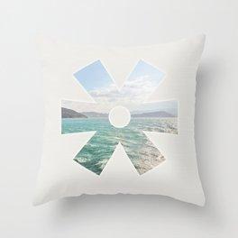 summer seas Throw Pillow