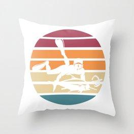 Retro Spearfishing Throw Pillow