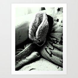 Cozy Couch Cute Creepmonster Art Print