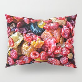 A Pile Of Colorful Dry Fruits Pillow Sham