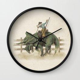 Dino Rodeo  Wall Clock