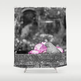 Stone Bird Shower Curtain