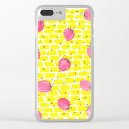 strawberry sunshine dreams Clear iPhone Case