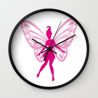 fairy Wall Clocks featuring fairy by Li-Bro