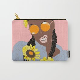 Believe in Yo Juice - Digital Black Goddess Vector Drawing Carry-All Pouch