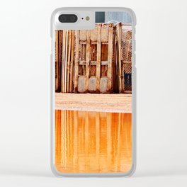 Lobster Traps and Red Sand Clear iPhone Case