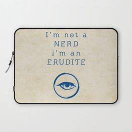 NERD? ERUDITE - DIVERGENT Laptop Sleeve