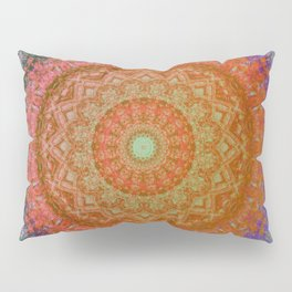 Mandala Glitch Solar Pillow Sham