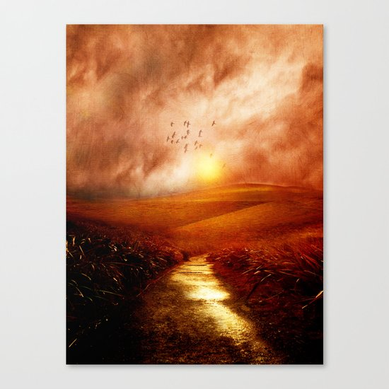 when the darkness, shine Canvas Print