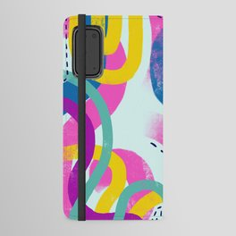 Fun bright abstract art Android Wallet Case
