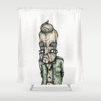 the dude Shower Curtains featuring Dude by Jans Wurst