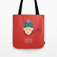 home alone Tote Bags featuring Home alone Kevin by Gary  Ralphs Illustrations