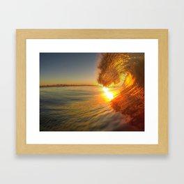 Chris Harsh Photos * Golden Wave At Dawn Framed Art Print