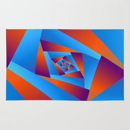 Orange and Blue Spiral Rug