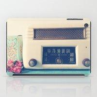 radio iPad Cases featuring Retro Radio by Olivia Joy StClaire