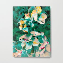 Playing With Flowers Metal Print