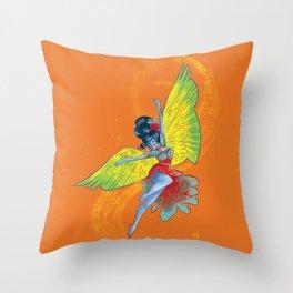 Colorful Flamenco Throw Pillow
