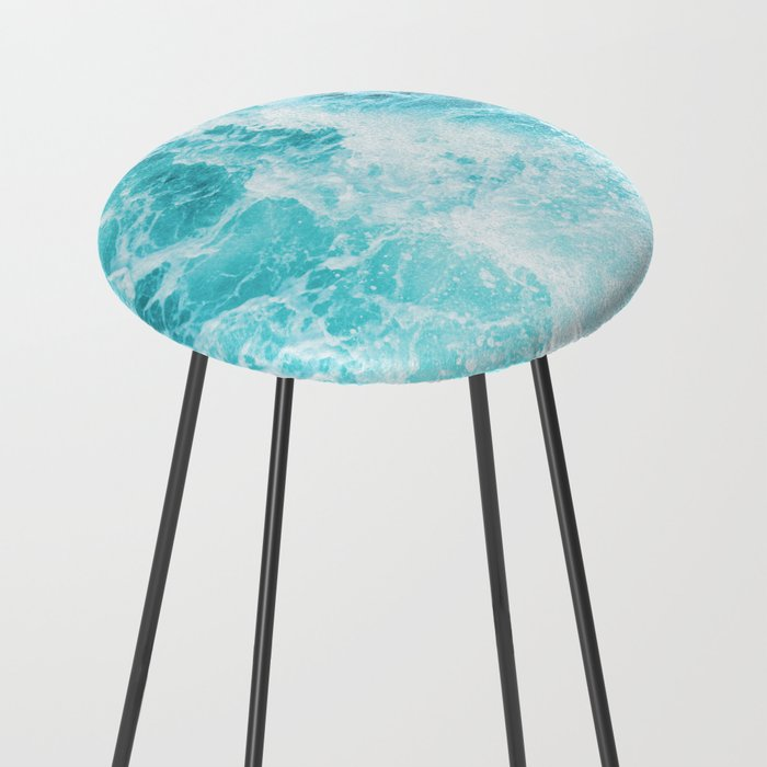 Perfect Sea Waves Counter Stool