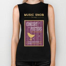 Hipster Concert Posters — Music Snob Tip #421 Biker Tank