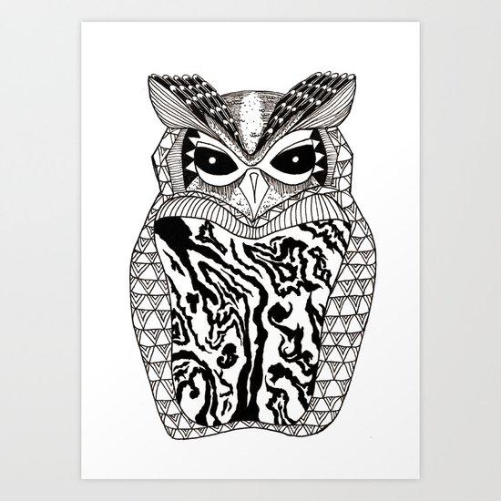 YMMY OWL Art Print