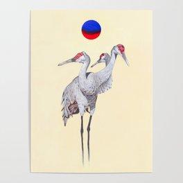 Three headed bird Poster