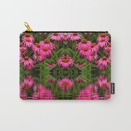 FUCHSIA-PINK ECHINACEA WATER GARDEN Carry-All Pouch