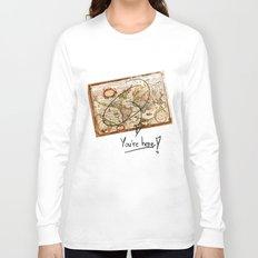 Vintage Map Long Sleeve T-shirt