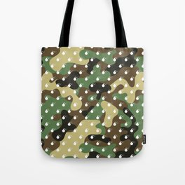 CAMO & WHITE BOMB DIGGITYS ALL OVER LARGE Tote Bag