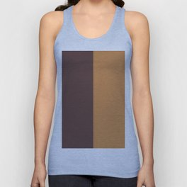 Two color. Chocolate and Mustard Unisex Tank Top