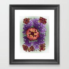 Pomegranate Poppies Framed Art Print