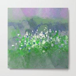 Ocean Spray in Greens and Blue Metal Print