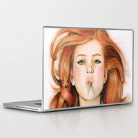 ginger Laptop & iPad Skins featuring Ginger by Sugar Doll