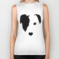 jack russell Biker Tanks featuring Jack Russell by Dizzy Moments
