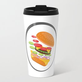 Awesome Burger falling down - I love Burger Travel Mug