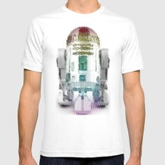 UNREAL PARTY 2012 R2D2 R2-D2 STAR WARS Mens Fitted Tee MEDIUM White