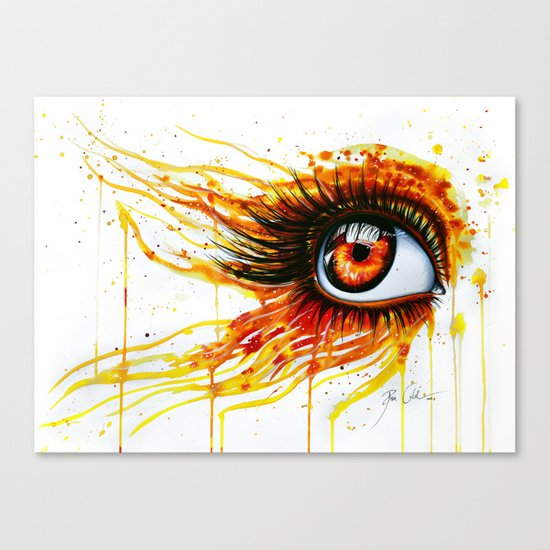 """On fire"" Canvas Print"