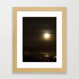 Glowing Moon Framed Art Print