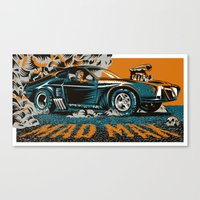 mad max Canvas Prints featuring Mad Max by Francesco Dibattista