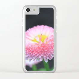 Kayla's Pink Flower Clear iPhone Case