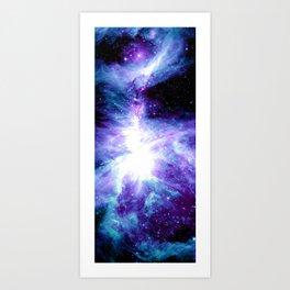 Galaxy : Orion Nebula Violet Purple Teal Blue Art Print