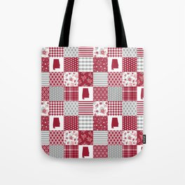 Alabama university crimson tide quilt pattern college sports alumni gifts Tote Bag