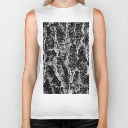 Lava cascade in black and white Biker Tank