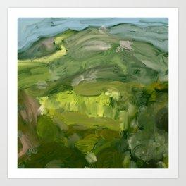 Landscape 1 Mountains Farm Kunstdrucke