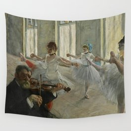 "Edgar Degas ""The rehearsal"" Wall Tapestry"
