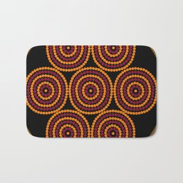 Aboriginal Cycle Style Painting Bath Mat